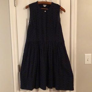 New without tags, J Crew  XL navy blue dress